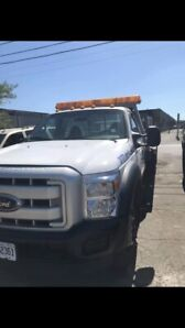 2001 flatbed tow truck  ford f550 diesel 7.30