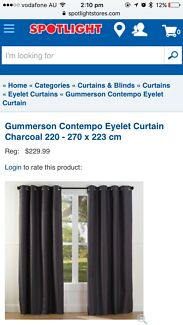 Eyelet charcoal curtain perfect for summer