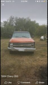 84 Chevy 350 trade on ranch equipment