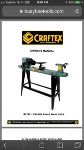 Craftex (Busy Bee Tools) B 2198 wood lathe