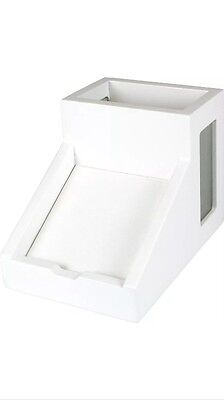 Victor Technology Pencil Cup With Note Holder Pure White W9505