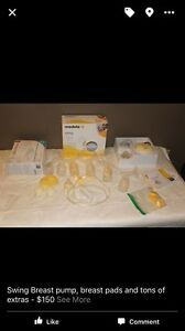 Breast pump with extras