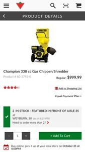 Champion wood chipper