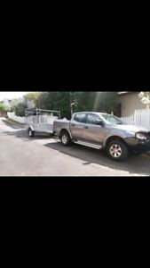 Man with a ute and trailer for hire