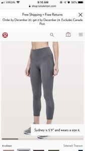 Lululemon All The Right Places (full length*) size 4