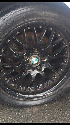 "X4 GENIUNE BMW E39 BBS RS 17"" SPLIT RIM ALLOY WHEELS 5 x 120 RARE RETRO"