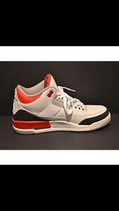 "Jordan 3 ""Fire Red"" Size 10.5"