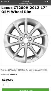 """Lexus CT200H 2012 17"""" OEM Wheel Rim"""