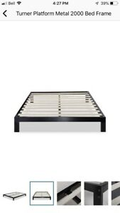 King size platform bed and memory foam mattress