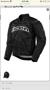 Black Icon Contra Motorcycle Jacket