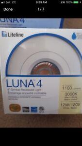 "Brand new 4"" Round 12W 3000K Gimbal Recessed White LED Pot Light"