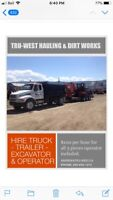 Dirt works and Hauling