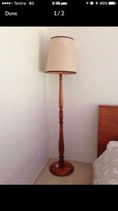 Timber Floor Lamp with Shade Tallebudgera Valley Gold Coast South Preview