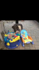 Baby bouncer, play pen and baby chair