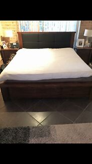 King size bed frame and 2 side tables  Mount Annan Camden Area Preview