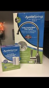 Under Counter Water filter system with faucet + extra filter