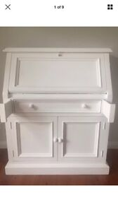 Desk white writing bureau Shabby Chic office cupboard Storage Oakville Hawkesbury Area Preview