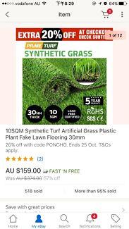 High Quality Artificial Grass approx 7.5 sqm