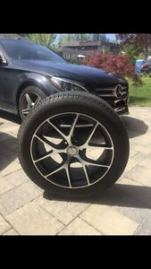 Michelin Winter Tire with Rims (studless and scratchless)