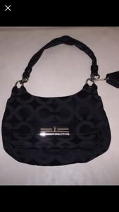 Authentic black coach purse