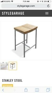 Gus Modern Stanley counter stool (natural ash) (2 available)