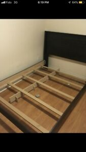 Queen size bed and box spring and mattress unassembled