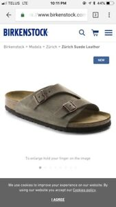 BRAND NEW Men's Birkenstock Sandals