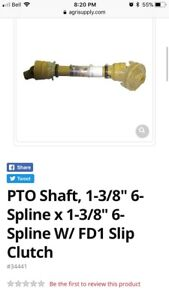 Wanted pto shaft with slip clutch