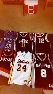 6 NBA jerseys