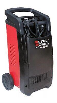 Usado, Metalworks Nova 400S Cargador arrancador de baterías 12 y 24v alta potencia   segunda mano  El Guix