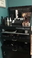 Youngblood mineral makeup and stand