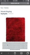 Large 1.90W X 2.80H Red Shaggy Rug for sale Albert Park Port Phillip Preview