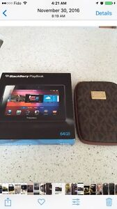 64GB blackberry playbook, tablet with letter bag