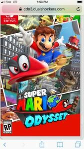 Super Mario  Odyssey for Nintendo Switch  *buy or trade*