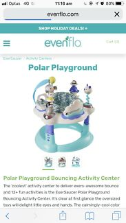 Polar jumper playground exersaucer