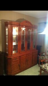 REDUCED!!!! Solid Oak Dining set w/Hutch  London Ontario image 1