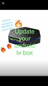 Android box update all shows movies and sports