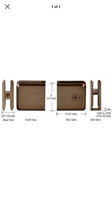 CRL Brushed Bronze Hole in Glass Style Beveled Wall Mount (Bronze Wall Mount Clamps)