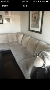 Used microfibre couch