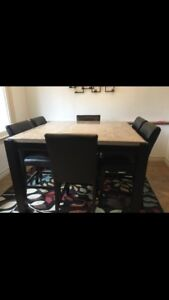 7 piece pub style dining table