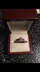 Flower 9ct wedding ring set Warnbro Rockingham Area Preview