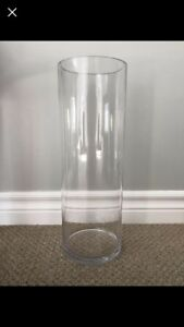 """clear 18"""" vases"""
