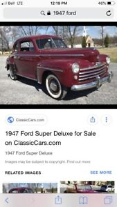 1946/47 FORD super deluxe parts