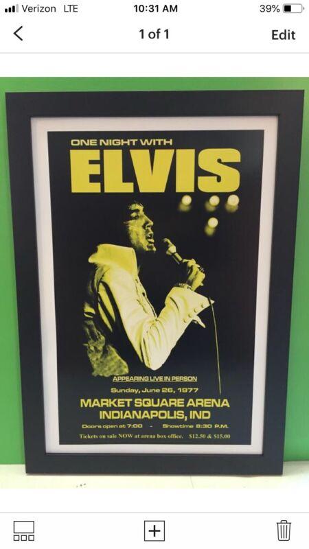 Elvis Presley Last Concert Framed Poster