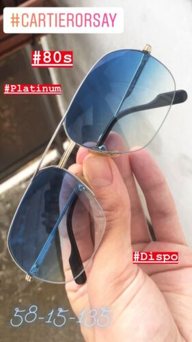 Lunettes cartier orsay platinum (58mm) (vintage frames eyewear glasses)