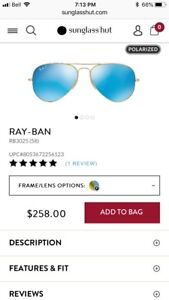 Polarized Authentic ray Ban
