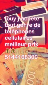 Ibuy j'achète tout genre de téléphone cellulaire meilleur prix