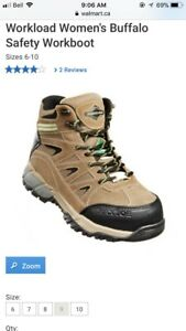 Women's size 8 workload safety boots