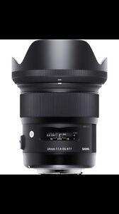 Sigma 24mm 1.4 ART lens CANON