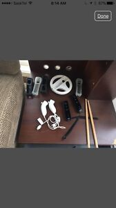 WI Game Console & Remotes & Rock Band Instruments